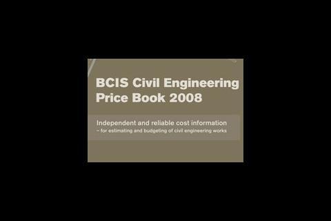 BCIS Civil Engineering Price Book 2008